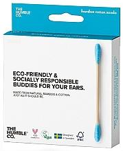 Düfte, Parfümerie und Kosmetik Bambus-Wattestäbchen blau - The Humble Co. Cotton Swabs Blue