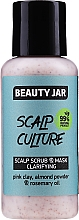 Düfte, Parfümerie und Kosmetik Reinigende Peeling-Maske für die Kopfhaut mit Rosmarinöl - Beauty Jar Scalp Culture Scrub & Mask