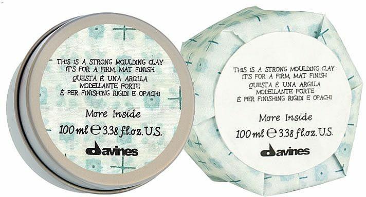 Modelierender Ton für das Haar mit Matt-Effekt - Davines More Inside Strong Moulding Clay