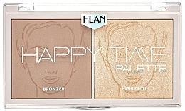 Düfte, Parfümerie und Kosmetik 2in1 Bronzer und Highlighter für das Gesicht - Hean Happy Time Palette