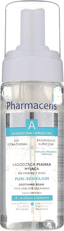 Sanfter Reinigungsschaum für Gesicht und Augen - Pharmaceris A Puri Sensilium Soothing Foam