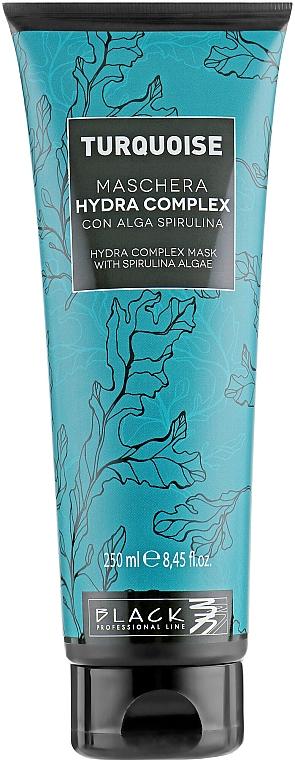 Regenerierende feuchtigkeitsspendende Haarmaske mit Spirulina - Black Professional Line Turquoise Hydra Complex Mask