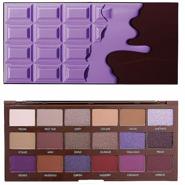 Lidschattenpalette - I Heart Revolution Eyeshadow Palette Violet Chocolate