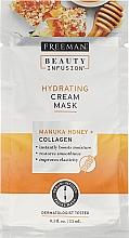 Düfte, Parfümerie und Kosmetik Feuchtigkeitsspendende Crememaske für das Gesicht mit Manuka-Honig und Kollagen - Freeman Beauty Infusion Hydrating Cream Mask Manuka Honey + Collagen (Mini)