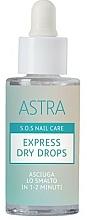 Düfte, Parfümerie und Kosmetik Nagellack-Schnelltrockner - Astra Make-up Sos Nails Care Express Dry Drops