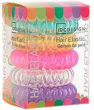 Düfte, Parfümerie und Kosmetik Haargummi aus Silikon mehrfarbig 5 St. - IDC Institute Design Hair Bands Pack