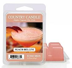 Düfte, Parfümerie und Kosmetik Tart-Duftwachs Peach Bellini - Country Candle Peach Bellini Mini Wax Melts