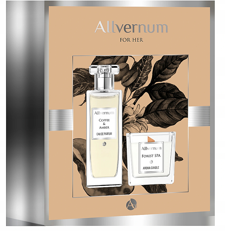 Duftset - Allvernum Coffee & Amber (Eau de Parfum 50ml + Duftkerze 100g)