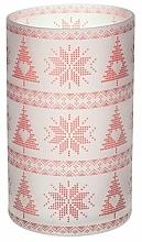 Düfte, Parfümerie und Kosmetik Kerzenhalter für Votivkerze - Yankee Candle Red Nordic Frosted Glass Jar Sleeve