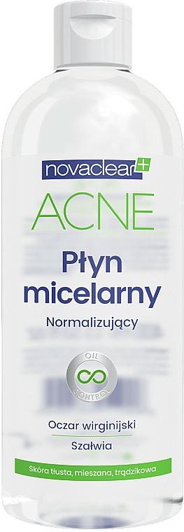 Normalisierendes Mizellen-Reinigungswasser für das Gesicht - Novaclear Acne Micellar Water