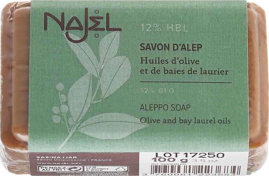 Natürliche Seife mit Oliven- und 12% Lorbeeröl für normale bis Mischhaut - Najel Savon d'Alep Aleppo Soap By Laurel Oils 12%