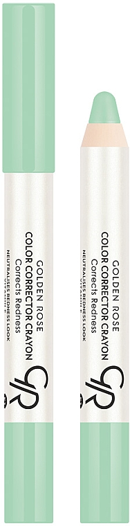 Korrekturstift gegen Hautrötungen - Golden Rose Color Corrector Crayon