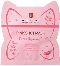 Düfte, Parfümerie und Kosmetik Porenverfeinernde Tuchmaske für das Gesicht - Erborian Pink Shot Mask