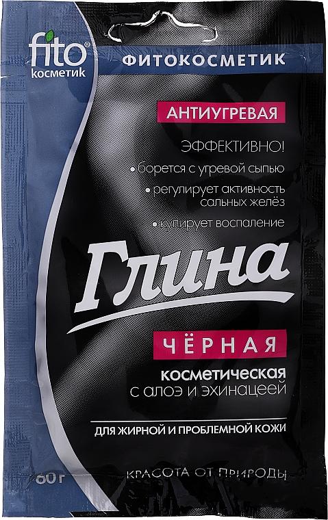 Kosmetische schwarze Tonerde für das Gesicht mit Aloe Vera und Echinacea - Fito Kosmetik
