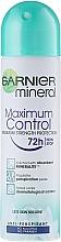 Düfte, Parfümerie und Kosmetik Deospray Antitranspirant - Garnier Mineral Maximum Control 72 h