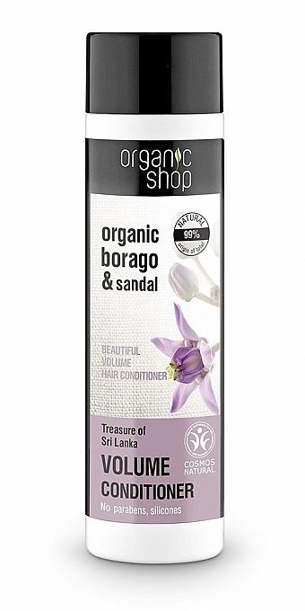Haarspülung für mehr Haarvolumen, Glanz und Sanftheit - Organic Shop Organic Sandal and Indian Nut Volume Conditioner — Bild N1
