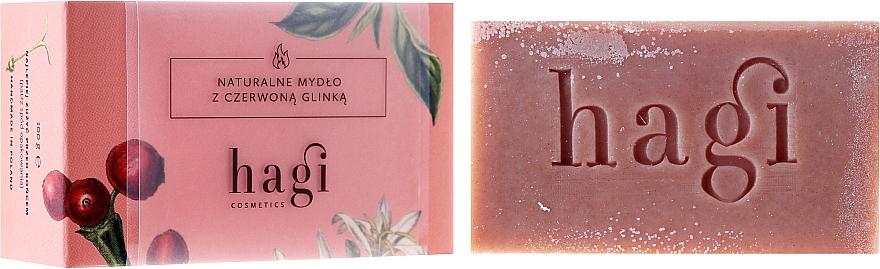 Naturseife mit roter Tonerde und gemeinen Schafgarbe - Hagi Soap