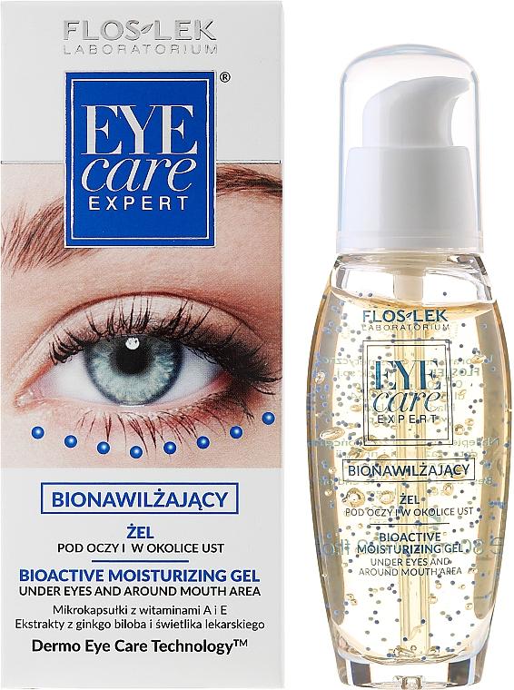 Feuchtigkeitsspendendes Augen- und Lippenkonturgel - Floslek Eye Care Bioactive Moisturizing Gel Under Eyes And Around Mouth Area