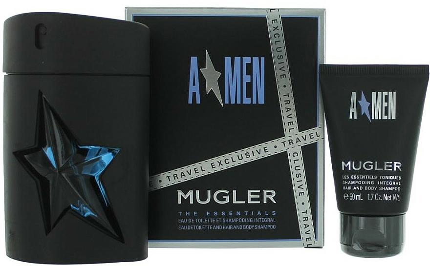 Mugler A Men - Duftset (Eau de Toilette 100ml + Duschgel 50ml)