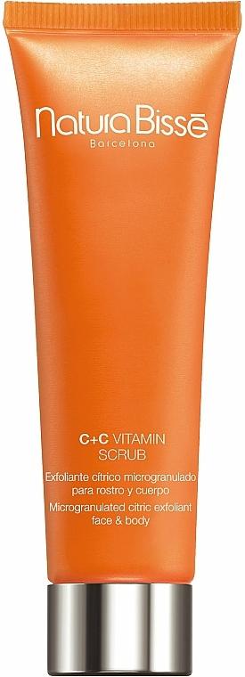 Aufhellendes und feuchtigkeitsspendendes Gesichts- und Körperpeeling mit Vitamin C und Antioxidantien - Natura Bisse C+C Vitamin Scrub