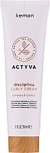 Düfte, Parfümerie und Kosmetik Haarfluid für brüchiges Haar - Kemon Actyva Disciplina Curly Cream
