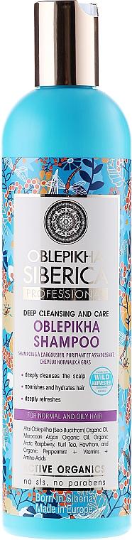 """Sanddorn Shampoo """"Tiefenreinigung und Pflege"""" für normales und fettiges Haar - Natura Siberica Oblepikha Siberica — Bild N1"""