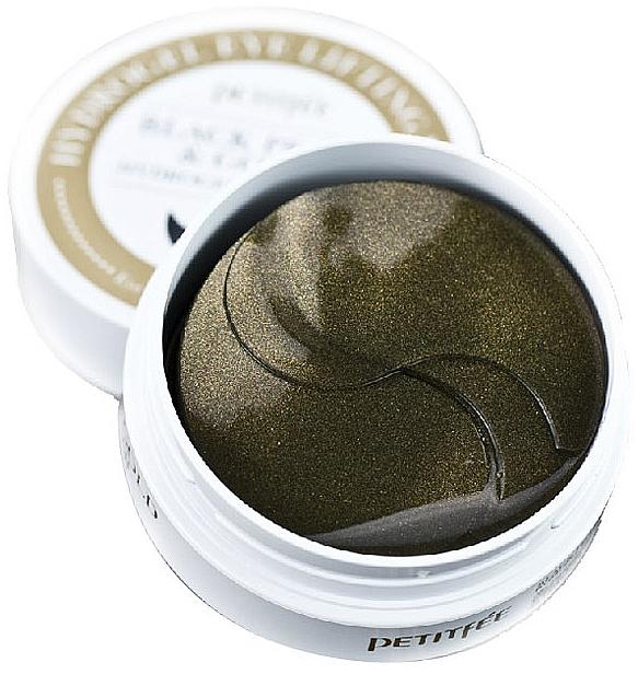 Hydrogel-Augenpatches mit Gold und mit schwarzen Perlen - Petitfee & Koelf Black Pearl&Gold Hydrogel Eye Patch