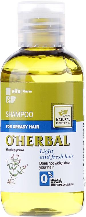 Shampoo für fettiges Haar mit Minzextrakt - O'Herbal