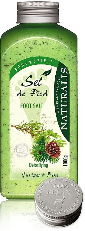 Detox Fußbadesalz mit Wacholder und Kiefer - Naturalis Sel de Pied Juniper And Pine Foot Salt