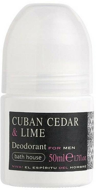 Bath House Cuban Cedar & Lime - Deo Roll-on für Männer