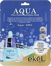 Düfte, Parfümerie und Kosmetik Intensiv feuchtigkeitsspendende und nährende Tuchmaske für das Gesicht mit hydrolysiertem Kollagen - Ekel Aqua Ultra Hydrating Essence Mask