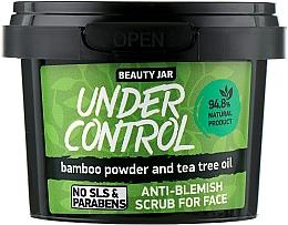 Düfte, Parfümerie und Kosmetik Gesichtspeeling mit Bambuspuder und Teebaumöl - Beauty Jar Anti-Blemish Scrub For Face