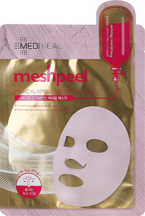 Rosa-Lehm-Gesichtsmaske - Mediheal Meshpeel Mask Pink Calamine