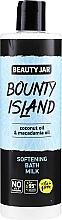 Düfte, Parfümerie und Kosmetik Aufweichende Bademilch mit Kokosnuss- und Macadamiaöl - Beauty Jar Bounty Island Softening Bath Milk
