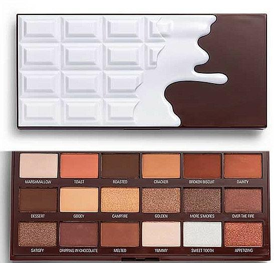 Lidschattenpalette - I Heart Revolution Chocolate Eyeshadow Palette Chocolate Smores