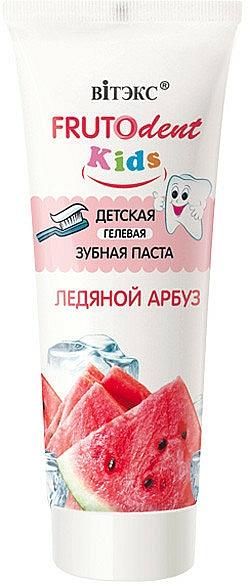 Fluoridfreies Kinderzahnpasta-Gel mit Wassermelonengeschmack - Vitex Frutodent Kids