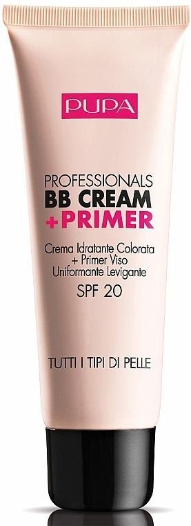 Feuchtigkeitsspendende BB Creme + Primer LSF 20 - Pupa Professionals BB Cream+Primer