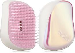 Düfte, Parfümerie und Kosmetik Kompakte Haarbürste cremeweiß mit Glanz - Tangle Teezer Compact Styler Smooth and Shine