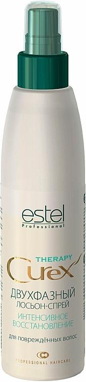 Regenerierendes 2-phasiges Lotion-Spray für strapaziertes Haar - Estel Professional Curex Therapy Lotion-Spray