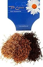 Düfte, Parfümerie und Kosmetik Haarbänder Spaghetti braun 3 St. - Top Choice