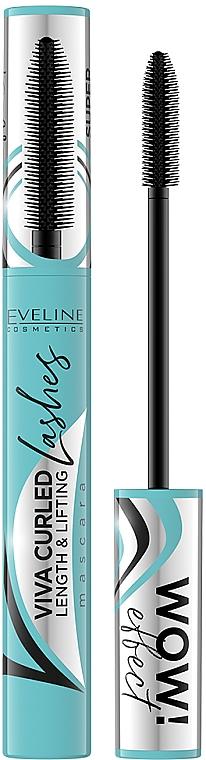 Wimperntusche für mehr Volumen - Eveline Cosmetics Viva Curled Lashes Mascara Length And Lifting