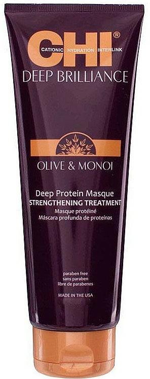 Stärkende Haarmaske mit Oliven- und Monoi-Öl und Proteinen - CHI Deep Brilliance Optimum Protein Masque