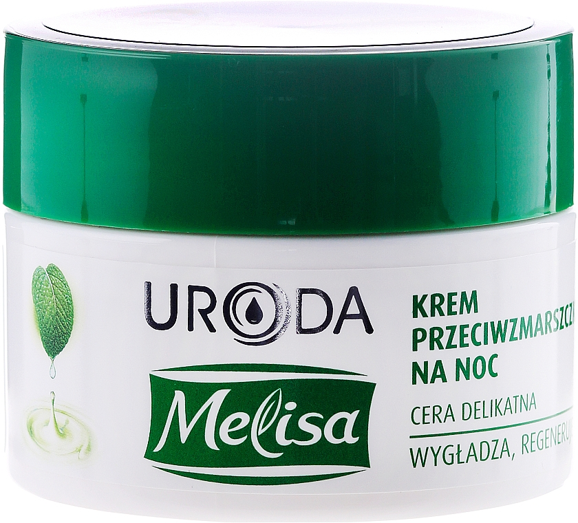 Glättende und regenerierende Anti-Falten Nachtcreme für das Gesicht - Uroda Melisa Face Cream