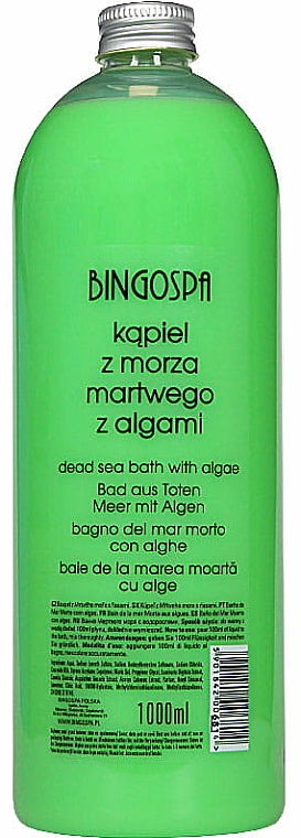 Badeschaum mit Algen aus dem Toten Meer - BingoSpa Dead Sea Bath With Algae