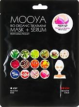 Düfte, Parfümerie und Kosmetik Straffende Lifting-Brustmaske mit Serum in 2 Schritten - Beauty Face Mooya Bio Organic Treatment Mask + Serum