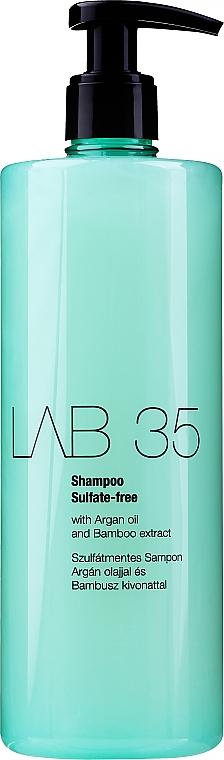 Sulfatfreies Shampoo für coloriertes Haar mit Arganöl und Bambusextrakt - Kallos Cosmetics Lab 35 Shampoo Shulfate-Free