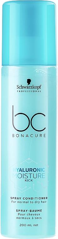 Feuchtigkeitsspendendes Haarspray Conditioner für normales bis trockenes Haar - Schwarzkopf Professional Bonacure Hyaluronic Moisture Kick Spray Conditioner