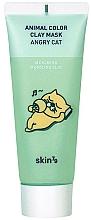 Düfte, Parfümerie und Kosmetik Beruhigende Gesichtsmaske aus grünem Ton - Skin79 Animal Color Clay Mask Angry Cat