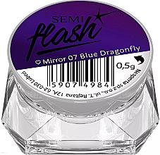 Düfte, Parfümerie und Kosmetik Holographisches Nagelpulver mit Spiegel-Effekt - Semilac SemiFlash Mirror