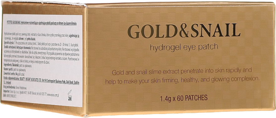 Hydrogel-Augenpatsches mit Gold und Schneckenschleim-Extrakt - Petitfee & Koelf Gold & Snail Hydrogel Eye Patch